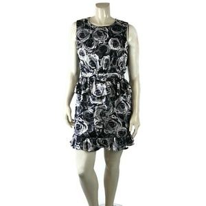 KATE YOUNG Floral Sleeveless Peplum 14 Dress